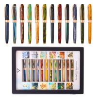 意大利VISCONTI维斯康蒂梵高系列125周年限量款收藏版玫瑰金12支装钢笔墨水笔 125周年纪念版 M尖 0.7mm