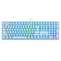 iKBC F410 108键 有线机械键盘 cherry红轴 蓝色
