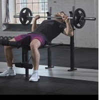 adidas 阿迪达斯 ADBE-10452W 家用卧推凳 45kg套装