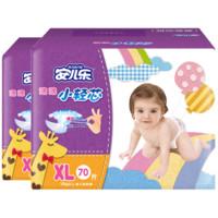 Anerle 安儿乐 薄薄小轻芯系列 通用纸尿裤 XL70片*2