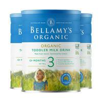 银联专享 : Bellamy's 贝拉米 有机婴幼儿配方奶粉(新款) 3段 900g*3件