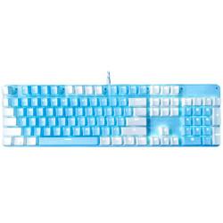 灵蛇 K845 108键有线机械键盘 青轴 白光 冰湖蓝