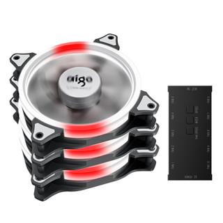aigo 爱国者 C3Pro 电脑机箱风扇 增强版 3个RGB幻彩风扇+控制遥控器