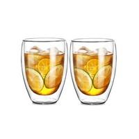 Le Bronte 朗特乐 高硼硅双层玻璃杯 350ml 两只装