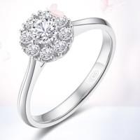 CRD 克徕帝 G0805B 女款18K金结婚戒指