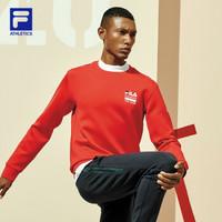 FILA ATHLETICS 斐乐男子卫衣2020春季新款专业运动简约套头衫 RD 红-RD 170/92A/M *3件