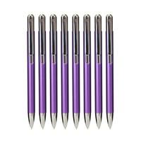AIHAO 爱好 金属感按动圆珠笔 0.7mm 10支