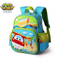 超级飞侠幼儿背包 男女童儿童背包 舒适透气背幅儿童书包 浅蓝色乐迪款BS0065 *3件