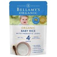 贝拉米 Bellamy's 婴幼儿辅食 宝宝有机米粉 4月以上 125g/袋 澳洲进口 富含益生元 *2件