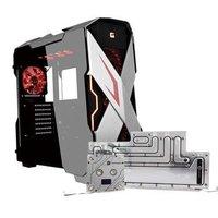 美商艾湃电竞(Apexgaming)X-Mars战神银色中塔电脑机箱(限量赠BP水冷主配件)
