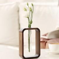 初心 大圆角花器木质小花瓶 *2件