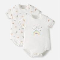 gb 好孩子 婴儿连体衣 2件装