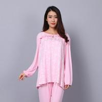 月子服套装产后薄款夏季孕妇家居服睡衣哺乳衣莫代尔夏大码200斤