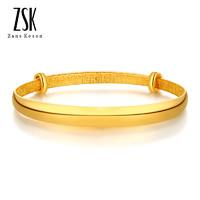 ZSK珠宝 光圈足金手镯 18.8克