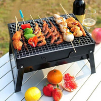 魔铁 烧烤架 烧烤炉 户外家用迷你可折叠便捷小型烤肉架带碳槽 野餐踏青郊游聚会碳烤炉