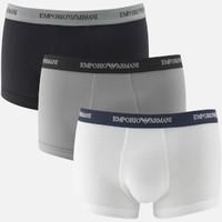 银联专享:Emporio Armani 阿玛尼 男士修身平角内裤 3条装
