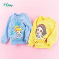 迪士尼2020童装女童甜美纯棉卫衣春季新品公主卡通印花上衣 *3件
