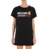 Moschino女士泰迪熊印花短袖连衣裙