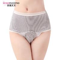 玫瑰太太条纹孕妇内裤前开式内裤棉中腰性感产褥期月子三角裤 *3件