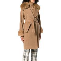 MAXMARA 麦丝玛拉 女士翻领中长款大衣外套