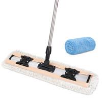 美丽雅 平板拖把干湿两用地拖送纤维拖布客厅卧室除尘墩布 送纤维拖布1张 *2件