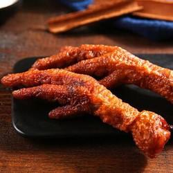 百草味 鸡爪鸡肉卤味零食特产小包装 卤香味虎皮凤爪160gx2袋 *5件