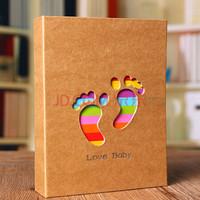 SPLENDID 亮丽 相册 影集 6英寸100张小脚丫 插页相片册 照片册 创意礼物