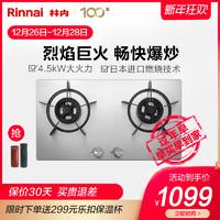 Rinnai/林内 JZT-2E02M 燃气灶双灶嵌入式天然气灶非台式家用灶具