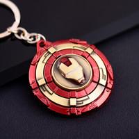 美队钢铁侠多种盾牌钥匙扣车钥匙挂件可旋转金属挂件