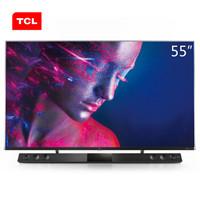 TCL 55C10 55英寸液晶电视机 4k超高清 量子点全面屏 智慧屏 前置独立音响 157%超高色域