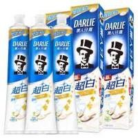 黑人(DARLIE)超白密泡小苏打牙膏190g*3(共570g)去牙渍(新老包装随机发放)