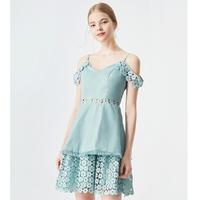 TAMMYTANGS 糖力 T18XQ19239 女士镂空蕾丝连衣裙