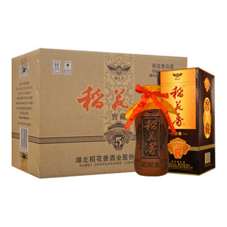 稻花香 白酒 52度浓香型 窖藏五年 500ml*6瓶 整箱礼盒装(内送3支手提袋)