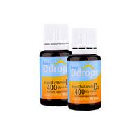 2件装|Baby Ddrops 婴儿维生素D3滴剂 400IU 90滴/瓶