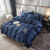 恒棉纺 水洗真丝床上四件套 春夏单人纯色刺绣三件套床上用品