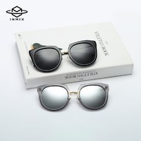 INMIX音米新款圆框女款偏光太阳镜 网红墨镜 防紫外线 商场同款