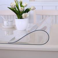 餐桌布软玻璃桌垫茶几垫防水透明加厚PVC水晶板 可定制纯色透明 厚度2mm *3件