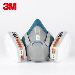 3M正品硅胶防甲醛6502/6502QL快扣尘毒套装喷漆防尘有机气体面具