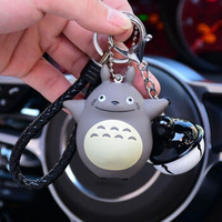 卡通情侣钥匙扣创意汽车铃铛小挂件可爱包包钥匙圈
