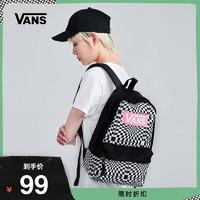 Vans范斯 女子背包 黑白棋盘格双肩包BACKPACK官方正品