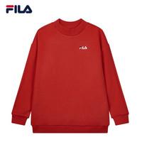 FILA 斐乐官方 女子卫衣 2019冬季新款运动休闲时尚串标套头衫女 传奇红-RD 160/80A/S *6件