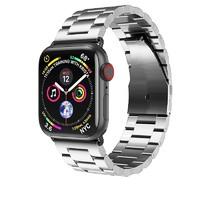 多腾 苹果手表表带 38/40mm通用 不锈钢 三珠款 银色