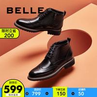 BELLE/百丽男鞋春新商场同款小牛牛皮鞋