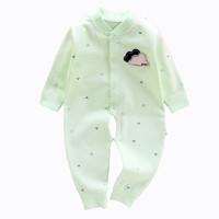 葆适得 婴儿连体衣纯棉哈衣春季开裆睡衣