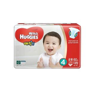 HUGGIES 好奇 魔法纸尿裤 L60片 *4件
