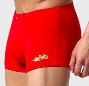 JianJiang 健将 男士纯色中腰平角内裤套装 4条装 (袜子*2+内裤*2) 8J446 红色 L
