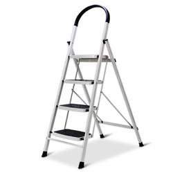 Aopeng 奥鹏 家用梯子四步折叠梯子加厚钢管铁梯宽踏板人字梯单侧工程梯 AP1264