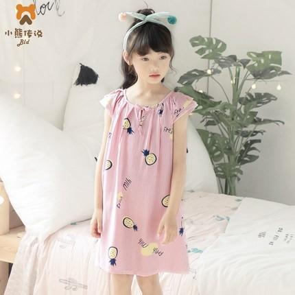 小熊传说 女童夏季薄款睡裙