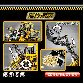 森宝积木儿童樂高积木机械科技组工程系列拼装玩具吊车推土机铲车