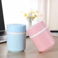 音米IMVII 迷你办公桌面加湿器车载USB加湿器香薰灯卧室办公室小型 粉红色